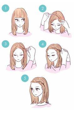 grafika hair, hairstyle, and diy