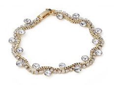 Wavy Crystal Bracelet