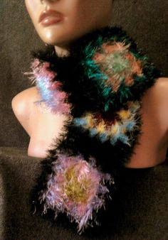 Faux Fur Super Soft  Crochet Scarf Neck Warmer by sebsurer on Etsy, $25.00