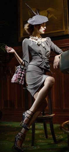 In my dream closet where finances were never an issue would live a Christian Dior skirt suit. Classy and so sexy on a curvy body... I want one!
