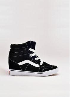 U Sk8 Hi Hidden Wedge Sneakers in Black True White by Vans