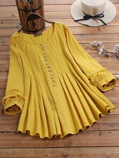 Specification :Color: Blue,YellowCustomer Age: YearsSize: CottonClosure Type: OverheadPattern: Solid ColorSleeve Length: Long SleeveOccasion: Daily CasualNeckline: O-neckSeason: Spring,AutumnPackageincluded: Fancy Dress Design, Girls Frock Design, Stylish Dress Designs, Girls Top Design, Pakistani Fashion Casual, Pakistani Dresses Casual, Indian Fashion Dresses, Tunic Designs, Kurta Designs Women