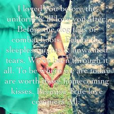 Air Force love--- love this Military Couples, Military Quotes, Military Love, Army Love, Army Quotes, Proud Army Girlfriend, Air Force Girlfriend, Army Boyfriend, Air Force Love