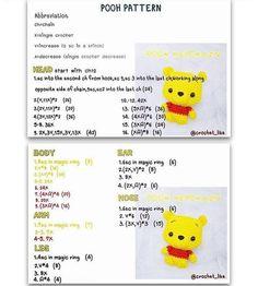 Best 12 Winnie The Pooh portachiavi amigurumi schema gratis tutorial walt Disney – SkillOfKing. Kawaii Crochet, Cute Crochet, Crochet Crafts, Crochet Toys, Crochet Projects, Crochet Disney, Crochet Dolls Free Patterns, Crochet Amigurumi Free Patterns, Crochet Keychain Pattern
