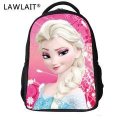 3D Children School Bags Elsa Anna Bags Cartoon Backpack For Kids Girls Boys  Mochila Infantil First Grade Bags 01fb450a69e1c