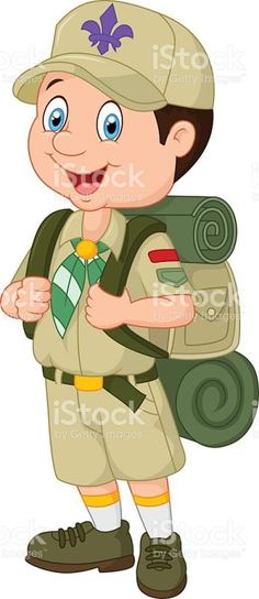 Cartoon Little Boy Scout stock vector art 487583430 | iStock