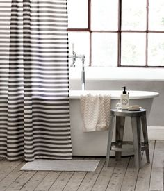grey white striped shower curtain.  lively blue shower curtain Shops Of and Blue