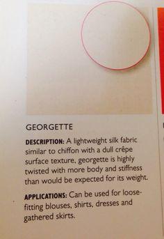 Georgette -sheer fabric