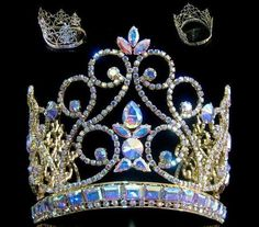 Northern Lights Imperial AB Gold Adjustable  Crown - Crown Designers - Rhinestone Crowns, Tiaras & Scepters