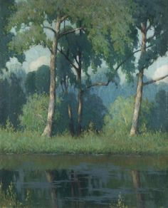 Solitude - George J. Stengel (1872–1937) - Stengel mounted a local exhibition of his California paintings at his studio in Ridgefield in 1928. It was mostly an exhibition of 42 sketches, and five large canvases. Then, in 1929, Babcock Galleries on 57th Street in New York City mounted a solo exhibition of Stengel's paintings. The exhibition consisted of 29 oil paintings which mostly depicted Monhegan and California scenes and lasted from January 2nd to the 15th.