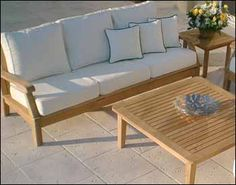 Teak Port Sofa and Table Collection