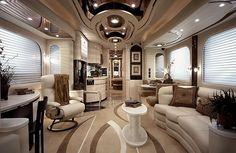 bus, caravane, salle, salon, cuisine, bain, chambre, garage, télévision, voiture, luxe, dollars