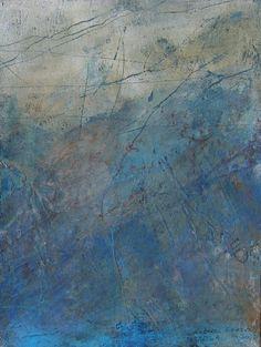 Rebecca Crowell - In Farrera, small work - (probably oil & cold wax medium)