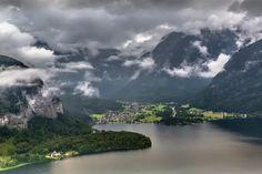 Obertraun from Hallstatt, Austria by EuropeTrotter
