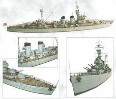 This ship paper model is theSpanish Cruiser Canarias (C-21),a heavy cruiser of the Spanish Navy, the papercraft is created byPapel 3D, and the scale is in 1:400.