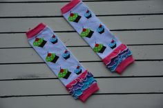 These adorable cupcake leg warmers will make every birthday girl feel special on their big day!