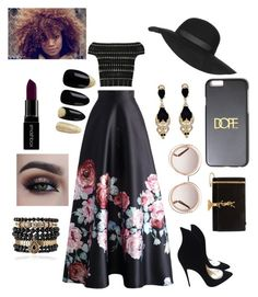 """Black Excellence"" by ria-georgina on Polyvore featuring Yves Saint Laurent, Alexander McQueen, Chicwish, Christian Louboutin, Chloé, Topshop, Givenchy, Samantha Wills, Smashbox and women's clothing"