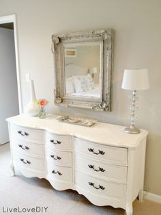 How To Decorate on a Budget love the white