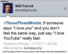 thank you will ferrell.