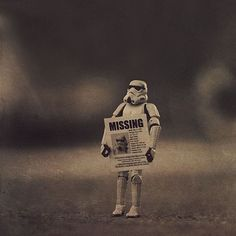 """.: Stormtroopers """"I take a lot of photos of my sons' stormtroopers. One of the troopers has gone missing recently. It's been very sad for all of us.""""  (Click the link for pictures)"""