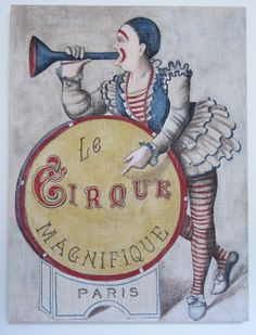 Vintage Circus Painting by Lisagolightly Old Circus, Circus Art, Night Circus, Circus Theme, Circus Clown, Vintage Circus Posters, Retro Poster, Vintage Carnival, Vintage Images