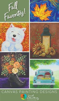 Fresh Fall Designs - Social Artworking Halloween Canvas Paintings, Canvas Painting Designs, Fall Canvas Painting, Autumn Painting, Paint Designs, Fall Designs, Social Artworking, Fall Lanterns, Paint And Sip