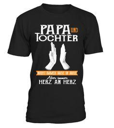 T-Shirt Eine hübsche Tochter /& eine Waffe WUNSCHNAME Sprüche Vater Vati Geschenk