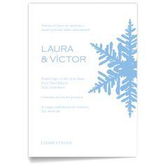 Invitaciones de boda Nieve Azul