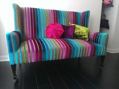 Fabulous Victorian Wingback sofa In Designers Guild Moyka Turquoise Fabric on Etsy, $1,177.16 AUD
