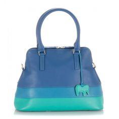 Zip Top Grab Bag Detachable S Strap - Aqua