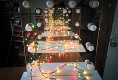 Standing makeup mirror lights by ZAP project https://www.facebook.com/ZAPprojectGroup/