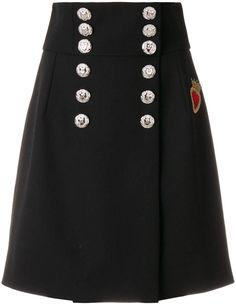 Dolce & Gabbana Sacred Heart buttoned A-line skirt