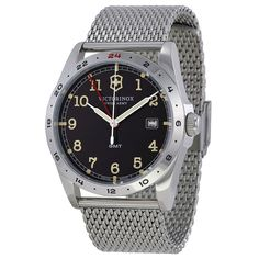 Victorinox Infantry GMT Black Dial Men's Watch 241649 - Infantry - Victorinox - Watches - Jomashop