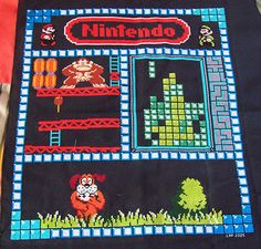 Impressive Collage for a Nintendo Cross Stitch | Super Mario Brothers Duck Hunt Tetris Donkey Kong