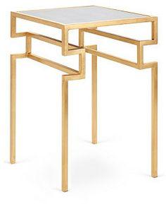 Everett Side Table, Gold