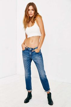 BDG Slim-Fit Boyfriend Jean - Billy Blue