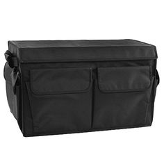 """camping box organizer - Car Auto Trunk Organizer,Foldable Cargo Container with Cover,Waterproof Travel Storage Box Bin Carrier for Car and Home,19.7\""""x11.8\""""x11.8\"""",Black *** Check out the image by visiting the link. (This is an affiliate link) #CampingGuides"""