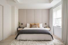 TBC Master BedRoom Мягкое изголовье до потолка и мягкий каркас кровати, возможно, с подъемным механизмом