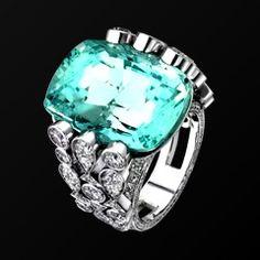 white gold aquamarine diamond ring g34lh400 piaget luxury jewelry online