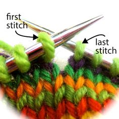 TECHknitting: Smoothed circles: a jogless join for single rounds in different colors