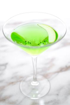 Sour Appletini - A very green and puckery Sour Appletini Recipe that ...