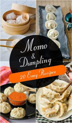 It is said that all good things come in small packages and it holds absolutely true for these soft, fluffy and flavorful steamed finger foods. Whatever name you address them with – momo, dumplings, dim sum or wontons, they taste purely delightful. Asian Dumpling Recipe, Chinese Dumplings, Steamed Dumplings, Indian Food Recipes, Asian Recipes, Momos Recipe, Chinese Appetizers, Yummy Treats, Yummy Food
