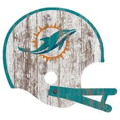 NFL Miami Dolphins Distressed Helmet Cutout Sign