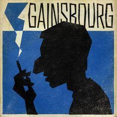 Serge Gainsbourg illustration.