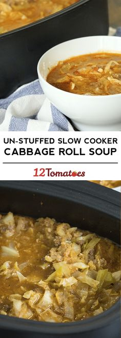 Un-Stuffed Slow Cooker Cabbage Roll Soup