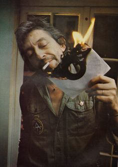 Serge Gainsbourg put the fire to a vinyl