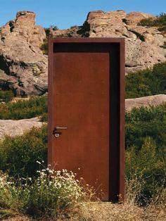 Neoporte Doors - Era finish  Pre-weathered CorTen steel doors and frames