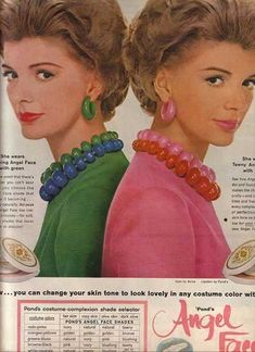 Pond's Angel Face Complete Compact Makeup 1990s Fashion Trends, 1960s Fashion, Beauty Ad, Beauty Hacks, Vintage Advertisements, Vintage Ads, 1960s Makeup, Cosmetics & Fragrance, Barbie