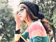 love everything about this especially the hair #ulzzang #cute #fashion