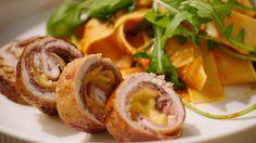 Een overheerlijke saltimbocca van kalfsvlees met tomatenpesto, pasta en rucola, die maak je met dit recept. Smakelijk!
